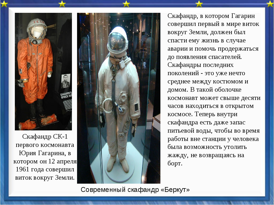Скафандр СК-1 первого космонавта Юрия Гагарина, в котором он 12 апреля 1961 г...
