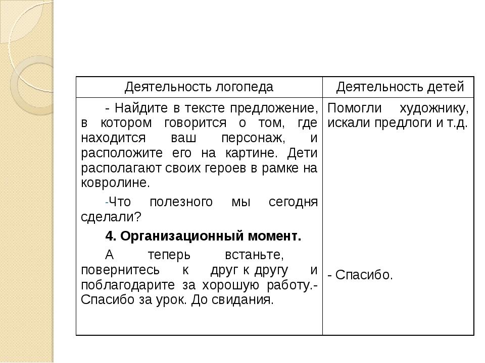 Деятельность логопедаДеятельность детей - Найдите в тексте предложение, в ко...
