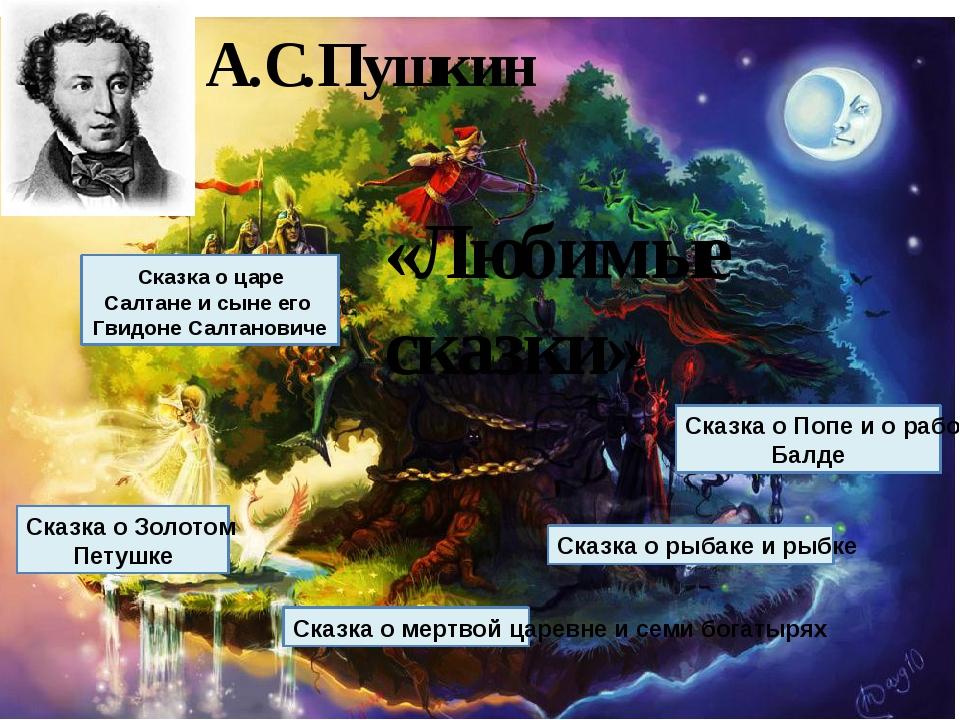 А.С.Пушкин «Любимые сказки» Сказка о царе Салтане и сыне его Гвидоне Салтанов...
