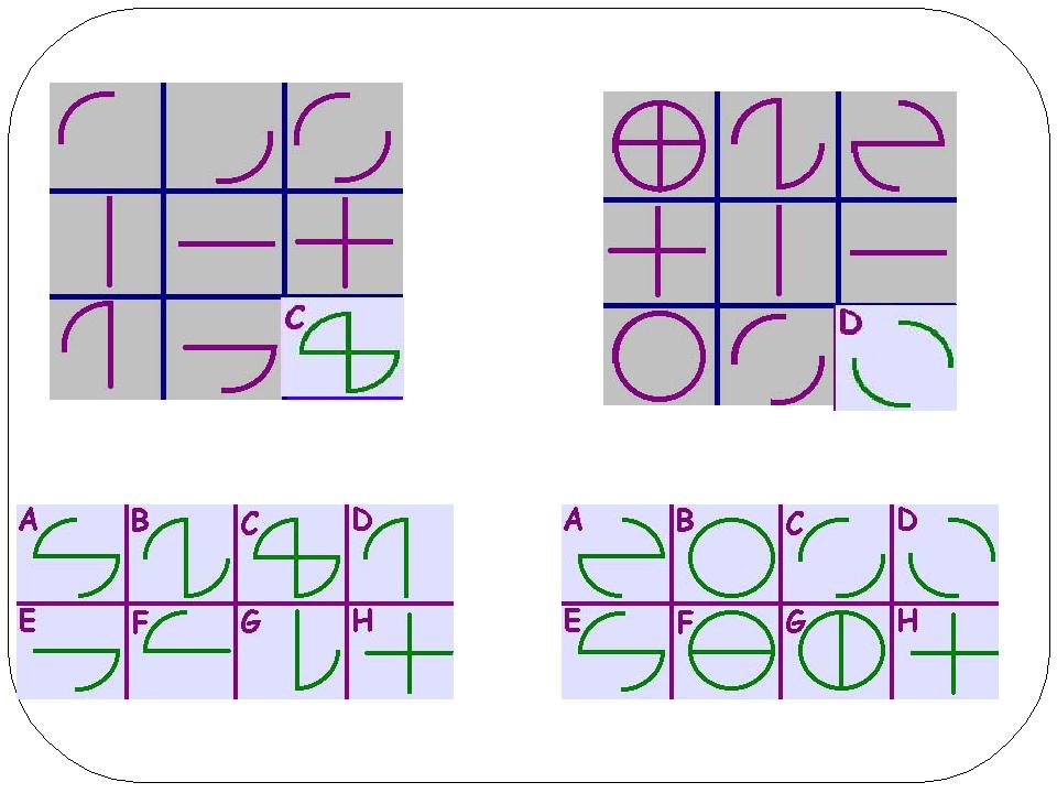 Найти закономерность и выбрать соответствующую картинку, продолжающую ряд