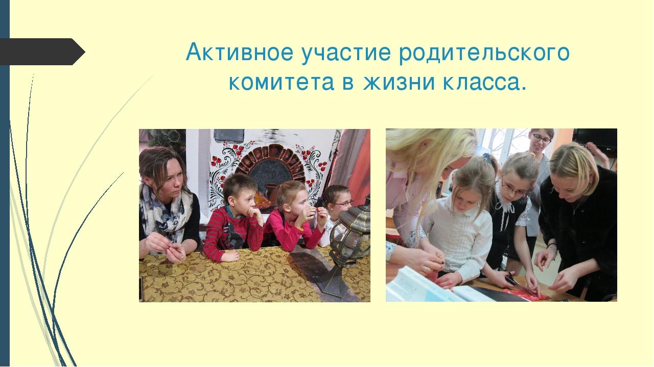 Активное участие родительского комитета в жизни класса.