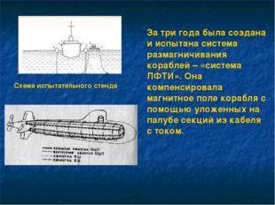 За три года была создана и испытана система размагничивания кораблей – «систе