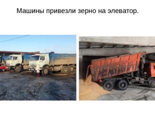 Машины привезли зерно на элеватор.