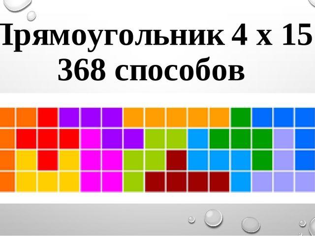 Прямоугольник 4 х 15 368 способов