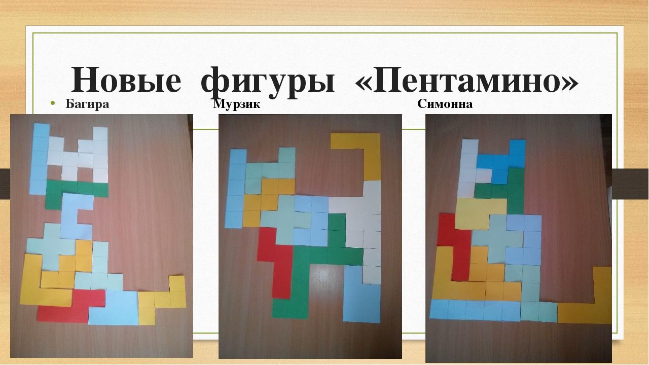Новые фигуры «Пентамино» Мурзик Симонна Багира