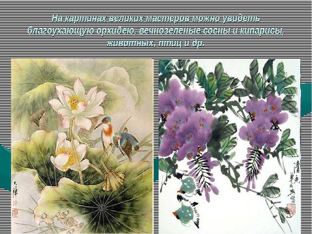 На картинах великих мастеров можно увидеть благоухающую орхидею, вечнозеленые...