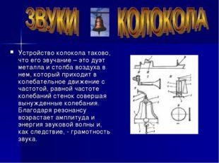 Устройство колокола таково, что его звучание – это дуэт металла и столба возд