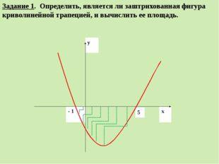 Задание 1. Определить, является ли заштрихованная фигура криволинейной трапец