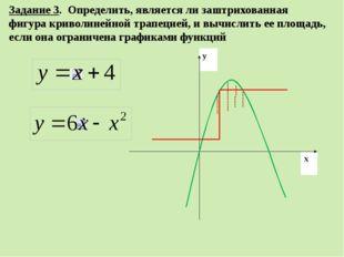 Задание 3. Определить, является ли заштрихованная фигура криволинейной трапец