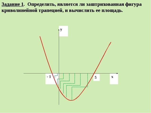 Задание 1. Определить, является ли заштрихованная фигура криволинейной трапец...