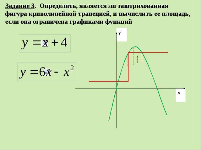 Задание 3. Определить, является ли заштрихованная фигура криволинейной трапец...