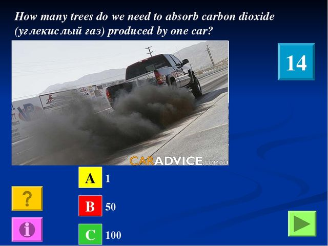 How many trees do we need to absorb carbon dioxide (углекислый газ) produced...