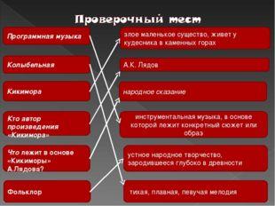 Программная музыка Колыбельная Кикимора Кто автор произведения «Кикимора» Что