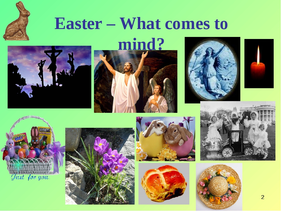 * Easter – What comes to mind?