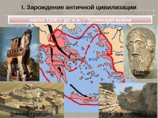 I. Зарождение античной цивилизации около 1200 г. до н.э. – Троянская война Го