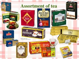 Assortment of tea