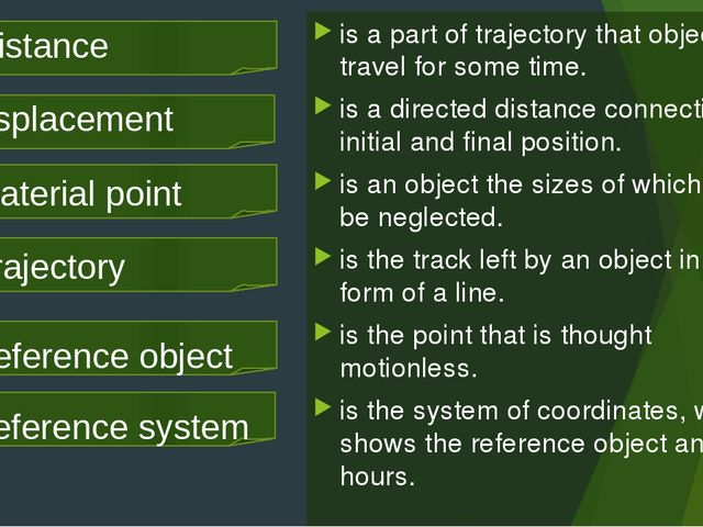is a part of trajectory that objects travel for some time. is a directed dist...