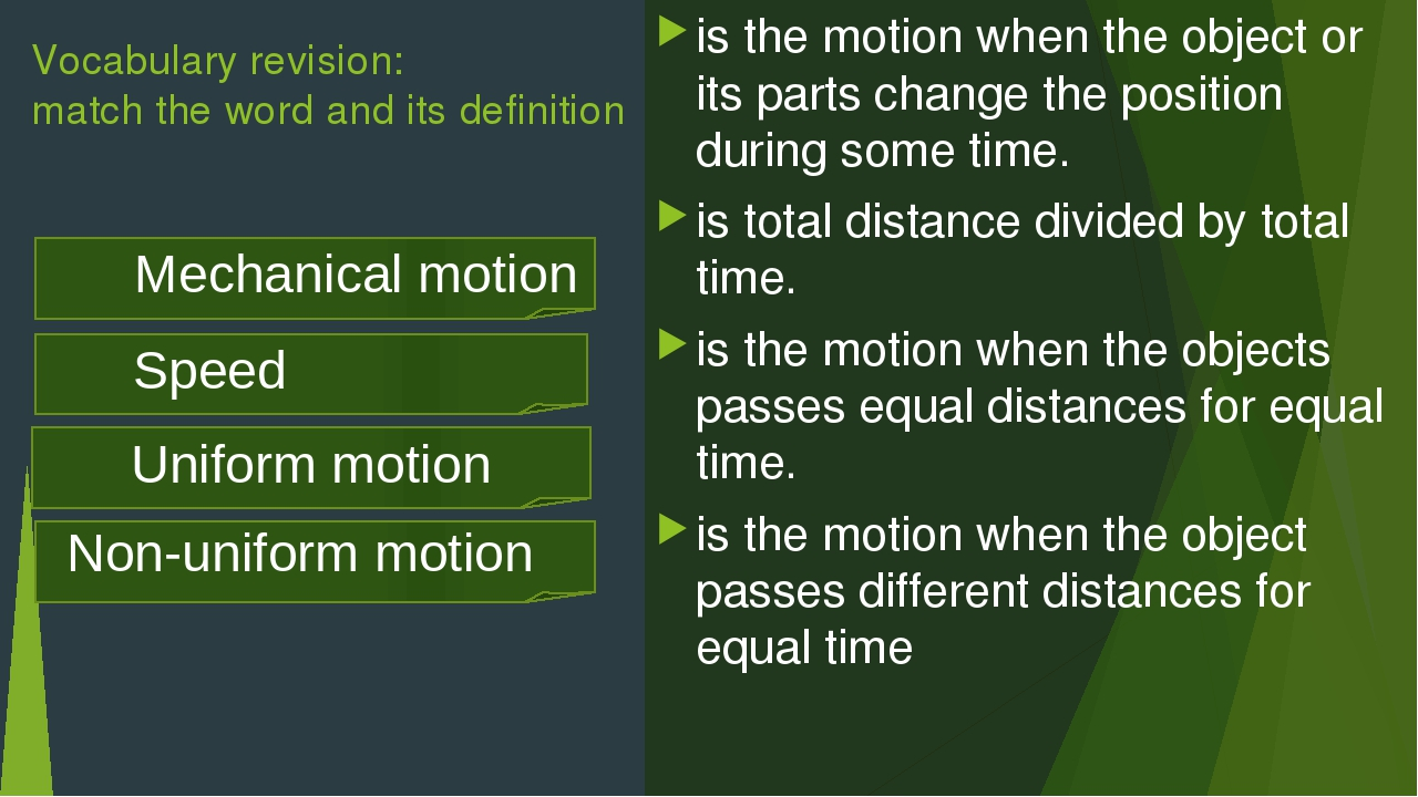 is the motion when the object or its parts change the position during some ti...
