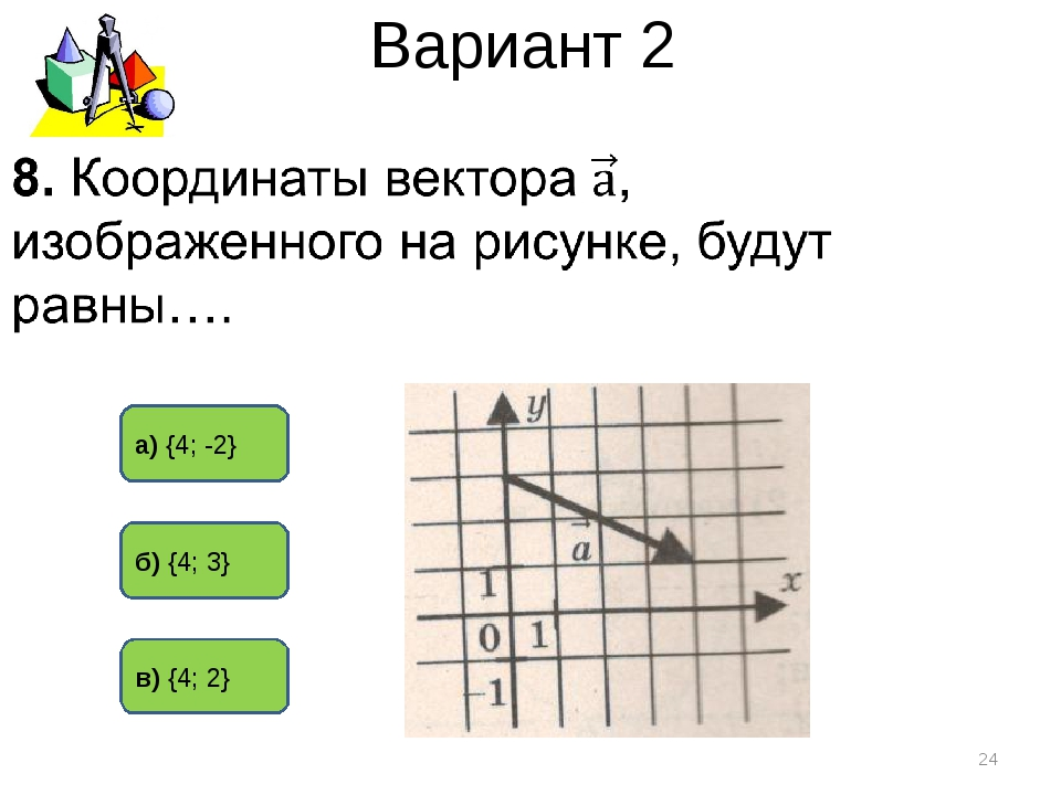 Вариант 2 а) {4; -2} б) {4; 3} в) {4; 2} *