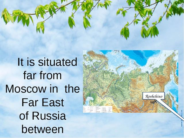 It is situated far from Moscow in the Far East of Russia between Khabarovsk...