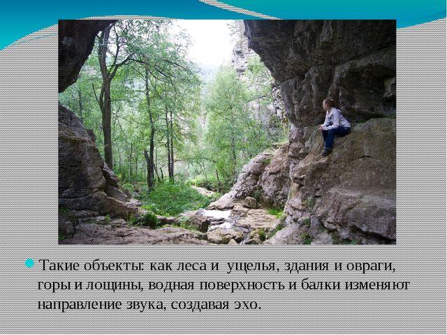 Такие объекты: как леса и ущелья, здания и овраги, горы и лощины, водная пов...
