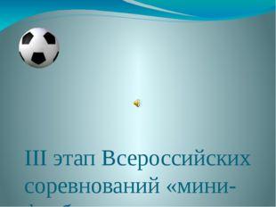 III этап Всероссийских соревнований «мини-футболу» г.Нерюнгри, 19-24.02 2013