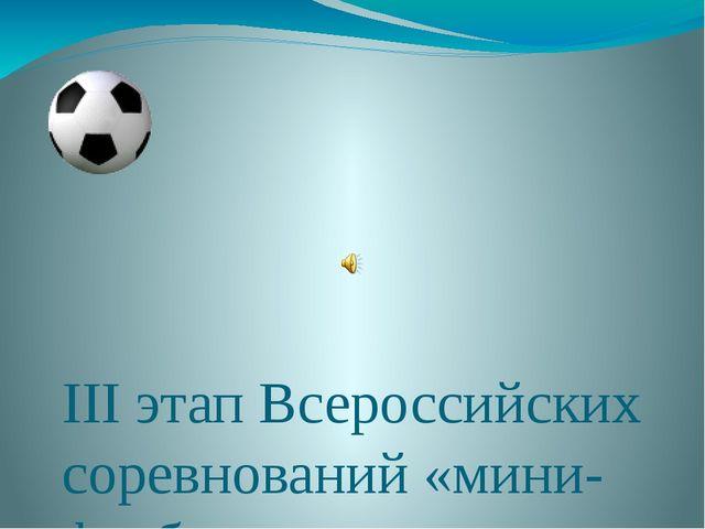 III этап Всероссийских соревнований «мини-футболу» г.Нерюнгри, 19-24.02 2013...