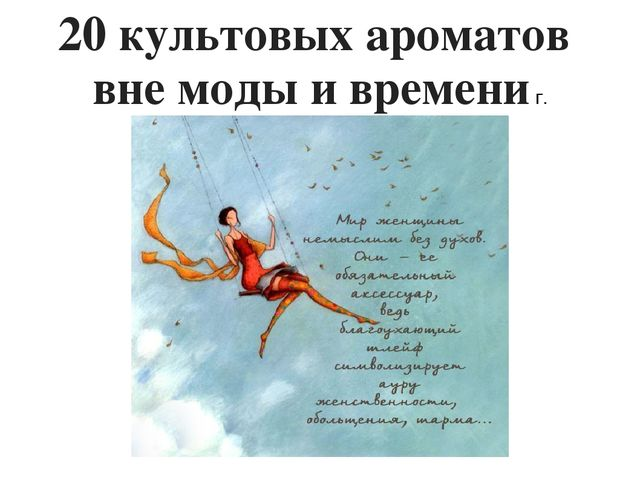 20 культовых ароматов вне моды и времени г.
