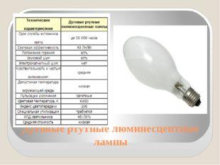 Дуговые ртутные люминесцентные лампы