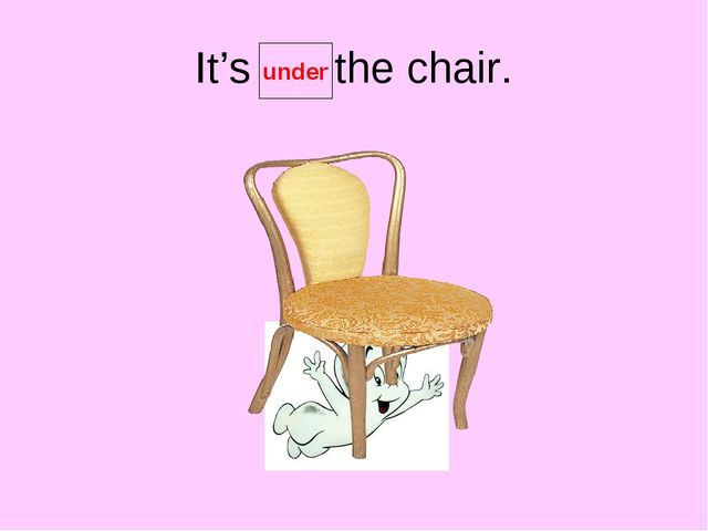It's the chair. under