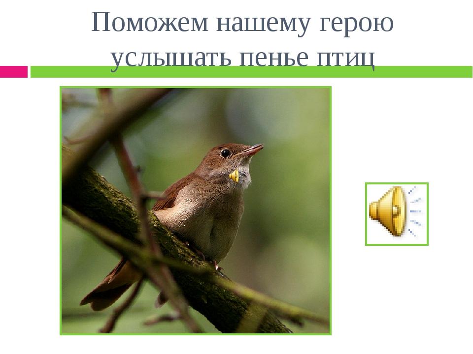 Поможем нашему герою услышать пенье птиц