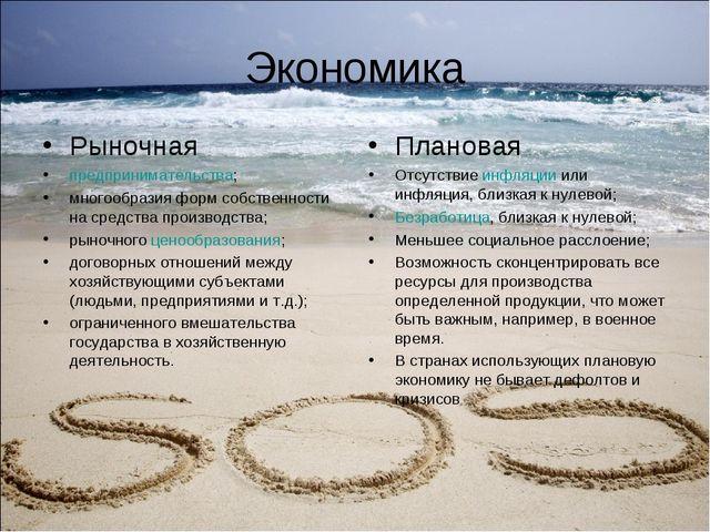 Экономика Рыночная предпринимательства; многообразия форм собственности на ср...