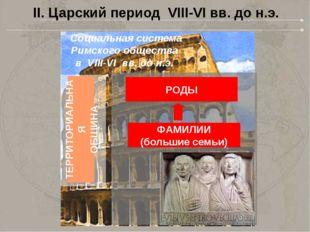 II. Царский период VIII-VI вв. до н.э. Социальная система Римского общества в