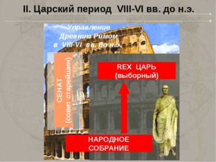 II. Царский период VIII-VI вв. до н.э. Управление Древним Римом в VIII-VI вв.