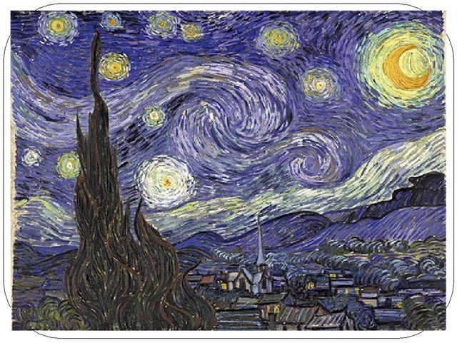 Основные характеристики произведений В. Ван Гога 1) экспрессивная нервозность...