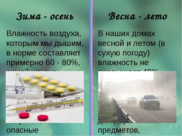 Влажность воздуха, которым мы дышим, в норме составляет примерно 60 - 80%, зи...