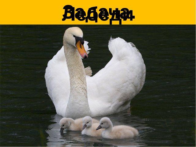 Лебеди Задача.