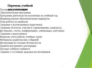Положение о коллективе Образовательная программа Программа деятельности колл