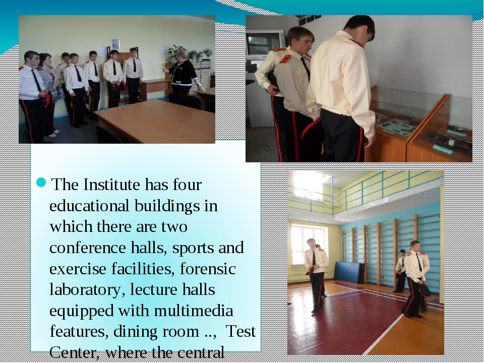 The Institute has four educational buildings in which there are two conferen...