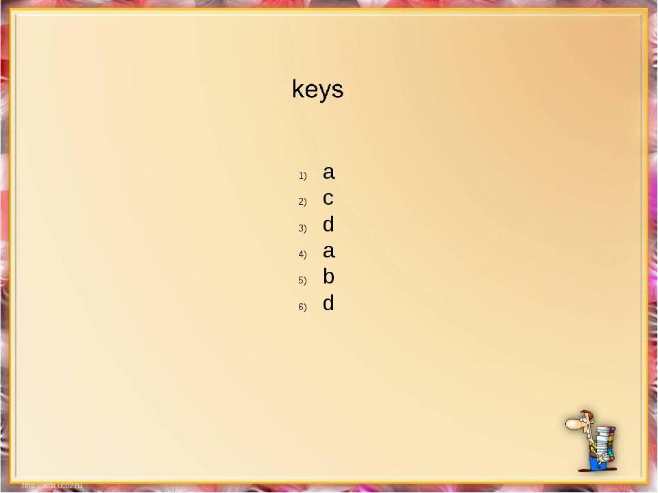 a c d a b d