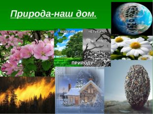 Природа-наш дом.