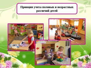 Принцип учета половых и возрастных различий детей