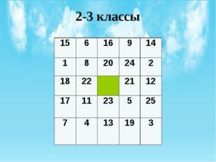 2-3 классы 15 6 16 9 14 1 8 20 24 2 18 22 21 12 17 11 23 5 25 7 4 13 19 3