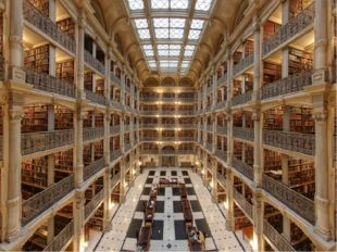 Библиотека Джорджа Пибоди, Балтимор, Мэриленд, США