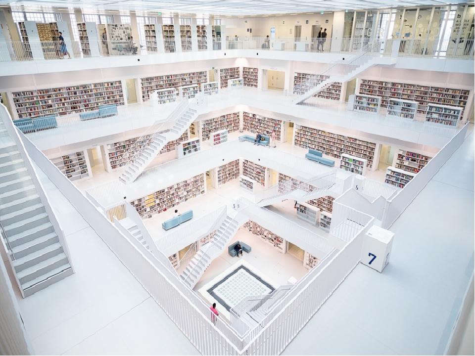 Городская библиотека Штутгарта, Германия