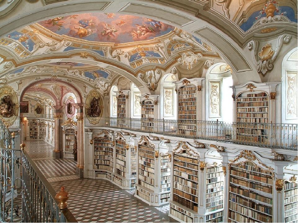 Библиотека аббатства Адмонт, Австрия