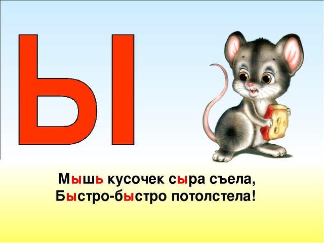 Мышь кусочек сыра съела, Быстро-быстро потолстела!