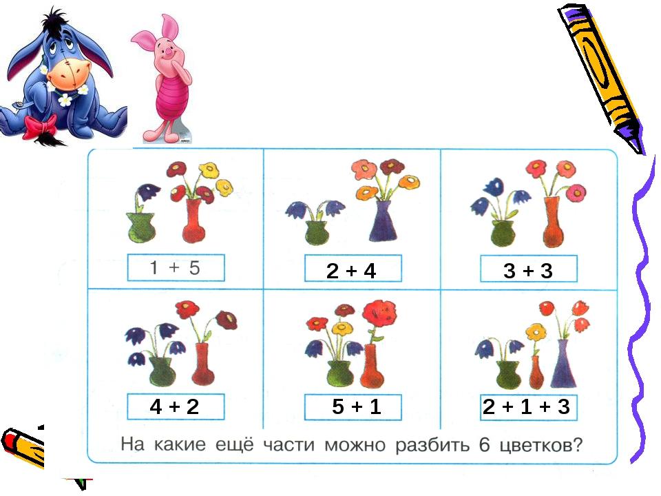 2 + 4 3 + 3 4 + 2 5 + 1 2 + 1 + 3