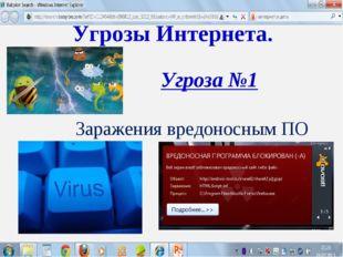 Угрозы Интернета. Угроза №1 Заражения вредоносным ПО