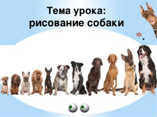 . Тема урока: рисование собаки